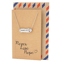 Susan Never Lose Hope Inspirational Jewelry, Engraved Necklaces