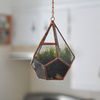 NEW Hanging Teardrop Glass Terrarium with Door -- moss terrarium -- stained glass terrarium -- terrarium supplies -- eco friendly