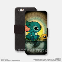 Stitch iPhone leather wallet cover iPhone case Samsung Galaxy case 254