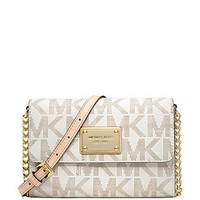 Michael Kors Signature Print Jet Set Phone Crossbody