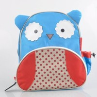 Leshery Kids Cartoon Animal ZOO Pack Boys Girls Schoolbag Infant Canvas Baby Lunch Bag (blue-Owl)