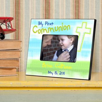 First Communion Picture Frame - Bright Blessings
