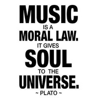 (13x19) Plato Music Quote Art Print Poster