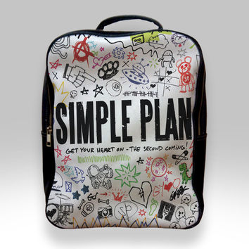 Backpack for Student - Simple Plan Get Your Heart on The Second Coming Bags