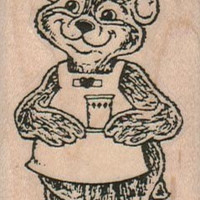 Nurse Bear rubber stamp craft supplies stamping teddy hospital number 10186