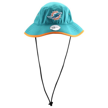 New Era Miami Dolphins Team Bucket Hat - Aqua/Orange