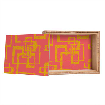 Gneural Broken Pipes Magenta Storage Box
