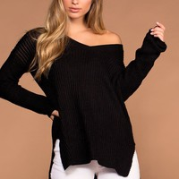 Etta Knit Sweater - Black