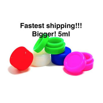 25 Silicone Concentrate Container Nonstick 5ML Food Safe Slick Wax Honey Oil Jar