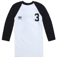Adidas Big Back 3 Raglan T-Shirt - Mens Tee - White