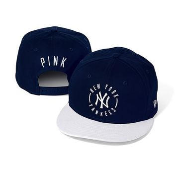 New York Yankees Colorblock Baseball Hat  - PINK - Victoria's Secret