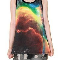 Aura The Phoenix Cosmos Galaxy Universe Space Tank Top Shirt Size XS