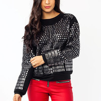 All-Around-Stud-Sweatshirt BLACK - GoJane.com