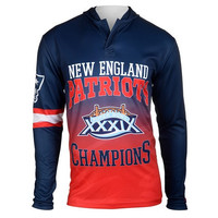NEW ENGLAND PATRIOTS SUPER BOWL XXXIX OFFICIAL NFL CHAMPIONS POLY HOODY TEE