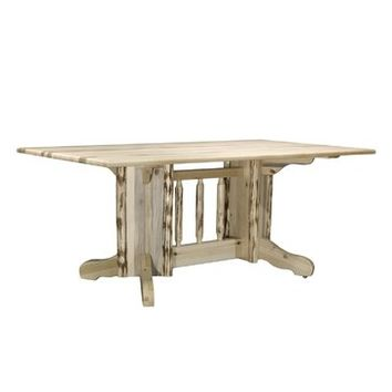 Montana Woodworks Double Pedestal Dining Table in Ready To Finish