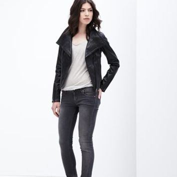 Bree Lamb Leather Biker Was $399 / Save $100 | Danier Official Store