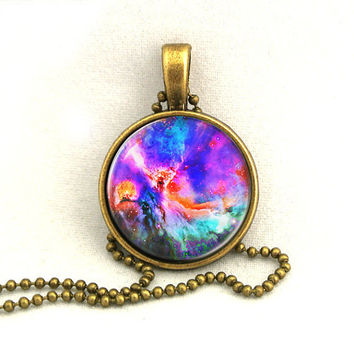 10 SALE Necklace Trifid Nebula Galaxy Jewelry by timegemstone