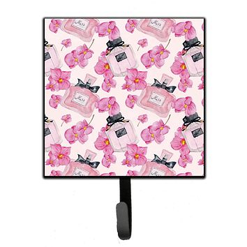 Watercolor Pink Flowers and Perfume Leash or Key Holder BB7510SH4