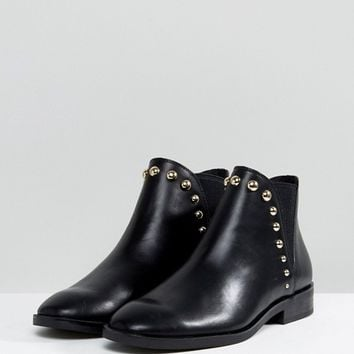 Stradivarius Stud Detail Ankle Boots at asos.com