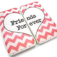 Pink Best Friends iphone 4 Case - Set of Two Friends Forever iPhone 4s Case / Cover:Amazon:Cell Phones & Accessories
