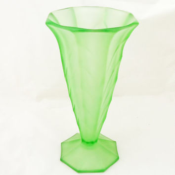 Shop Art Deco Glass Vase On Wanelo