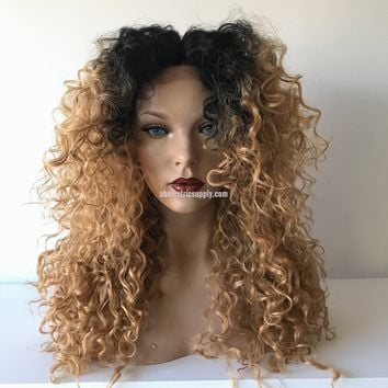 Root Dark Blond Waves lace front wig 22' 41715 ON SALE