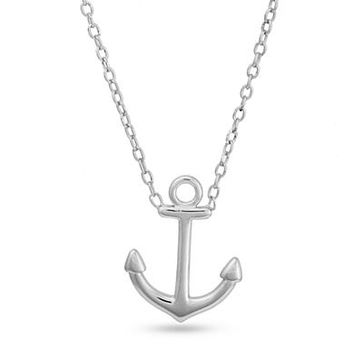 Belk Silverworks Sterling Silver Anchor Pendant Necklace