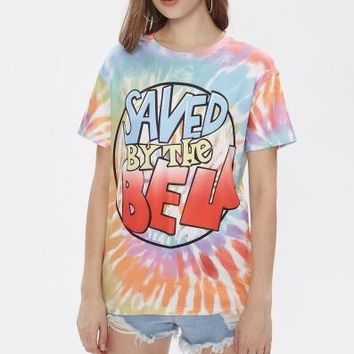 Saved by the bell tie dye retro tshirt