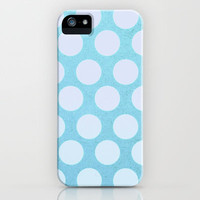 Ocean Blue Dots iPhone & iPod Case by Olivia Joy StClaire