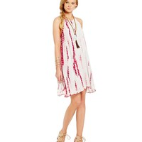 Chelsea & Violet Halter Tie Dye Woven Dress | Dillards