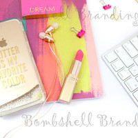 Styled Stock Photography Bundle -  Bright Boss - Stock Photography for Branding Your Business - Brightly colored stock photos