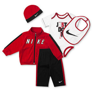 Nike Baby Set, Baby Boys 5-Piece Hat, Bib, Bodysuit, Jacket and Pants - Kids Baby Boy (0-24 months) - Macy's