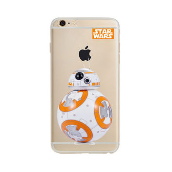 For iPhone 6S Case Star Wars The Force Awakens BB-8 Droid Robot Soft TPU Slim Fit Protective Cover for iPhone 6 6S 4.7 inch