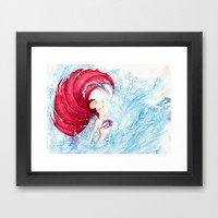 Ariel Framed Art Print by Susaleena