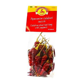 Tutto Calabria Dried Hot Long Chili Peppers, 0.70 oz (20 g)