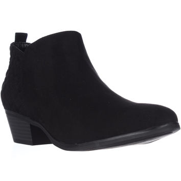S.C Wessley Semi-Quilted Short Booties - Black