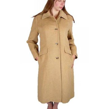 Vintage Coat Ultima 100% Camel Hair Classic Style 1970S Small -Med