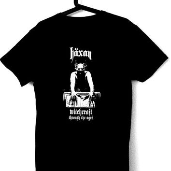 T-Shirt for man with illustration of the film HÄXAN,occult,witchcraft,goth,satanic,horror