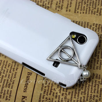 Dustproof plug 3.5 mm, harry potter deathly dustproof plug for iphone 4 s, iphone 4, iphone 3 gs, iPod Touch 4, HTC, samsung,