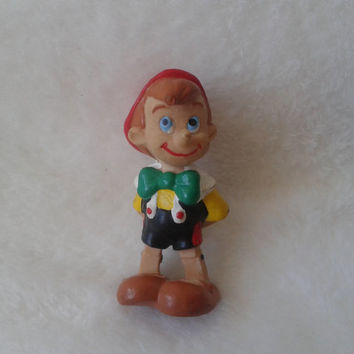 Vintage Disney Pinocchio  pvc Walt Disney pro. comic spain  miniature figure