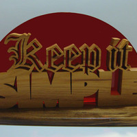 Keep It Simple Hickory and Quartersawn Sassafras Desk Sign