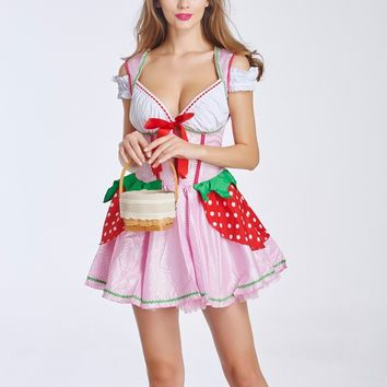 MOONIGHT Hot Seller Sexy Costume Maid game Uniform Halloween Cosplay for Women