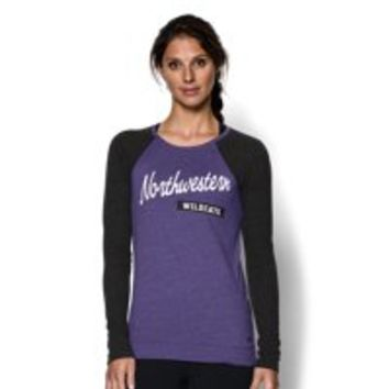 Under Armour Women's Northwestern UA Tri-Blend Long Sleeve Crew