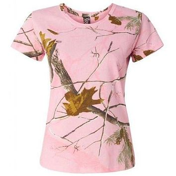 Yoga Clothing for You Women's Yoga Realtree Camo T-Shirt