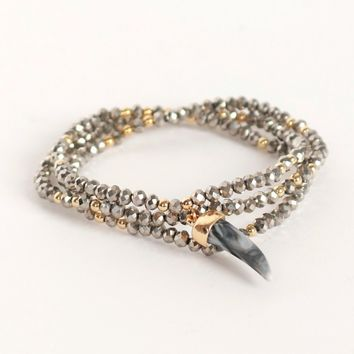 Tooth Be Told Wrap Bracelet Grey