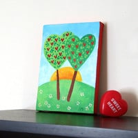 Acrylic Canvas LOVE GROWS EVERDAY 5x7 Romantic Art Home by nJoyArt