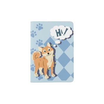 Thoughtful Shiba Inu Passport Holder