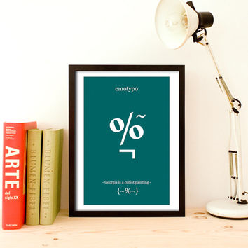 Emotypo Typography Print Wall Art Typhographic Print Inspirational Quote Funny Quote Print Art Home Decor Cubist Paint Typographic Design A3