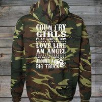 Women's Country Girl ® Big Truck Camo Hoodie