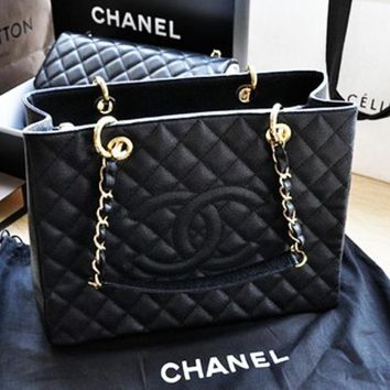 One-nice™ CHANEL Women Shopping Bag Leather Tote Handbag Bag